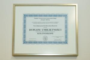 KOSKOMED Centrum Gastrologii IDietetyki, Certyfikat 1