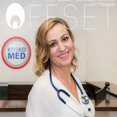 dr n. med. Katarzyna Kosikowska-Skowron w magazynie OFFSET